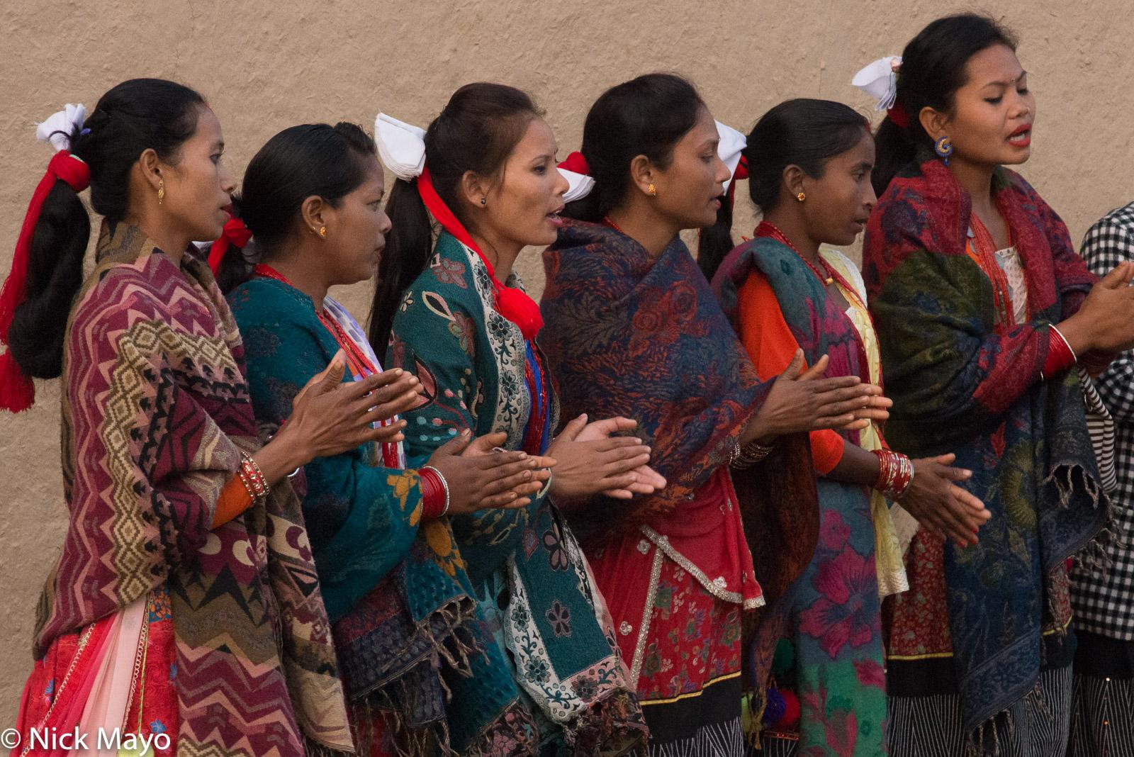 Festival, Hair Piece, Nepal, Singing, Terai, Tharu, photo