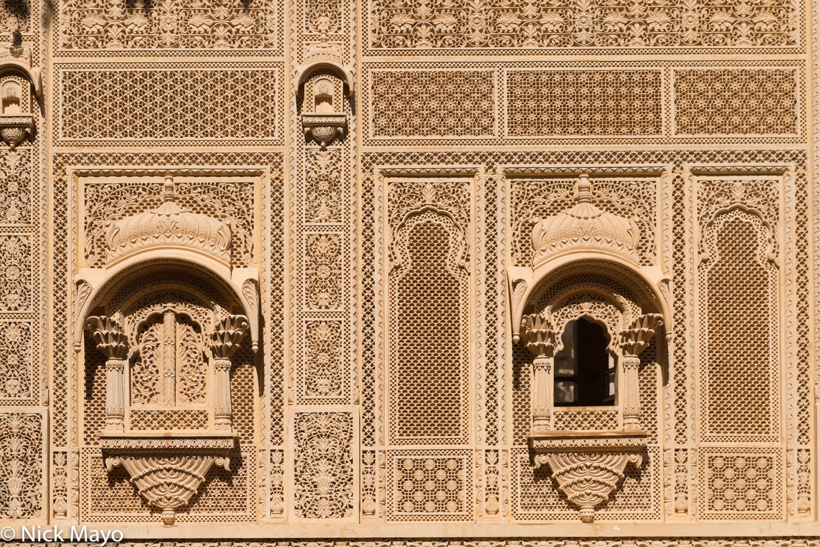 India, Rajasthan, Temple, Wall, Window, photo