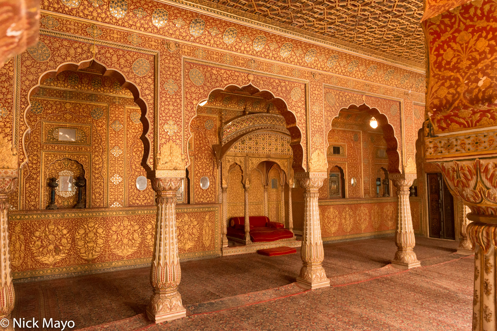 Fort, India, Rajasthan, Throne, photo