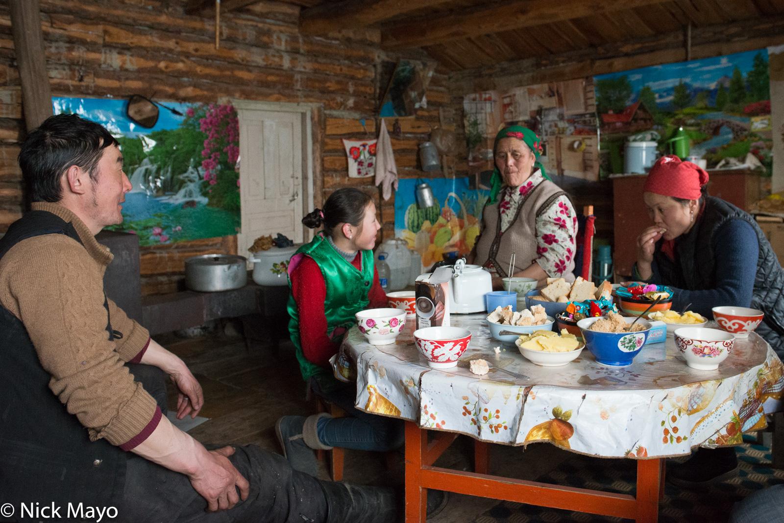 Bayan-Ölgii, Cheese, Kazakh, Kettle, Mongolia, photo