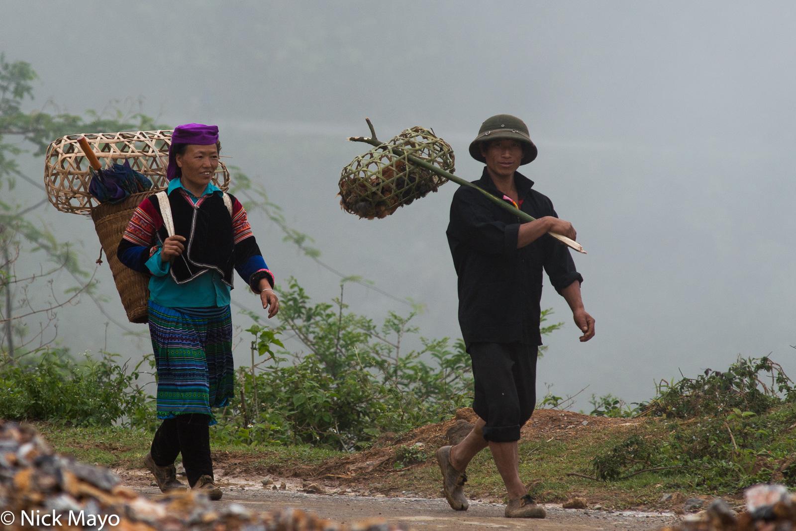 Backstrap Basket, Dien Bien, Miao, Shoulder Pole, Vietnam, photo