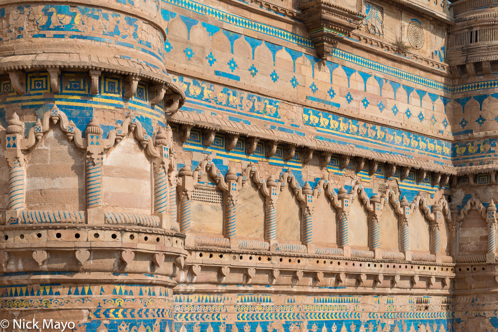 India, Madhya Pradesh, Palace, Wall, photo