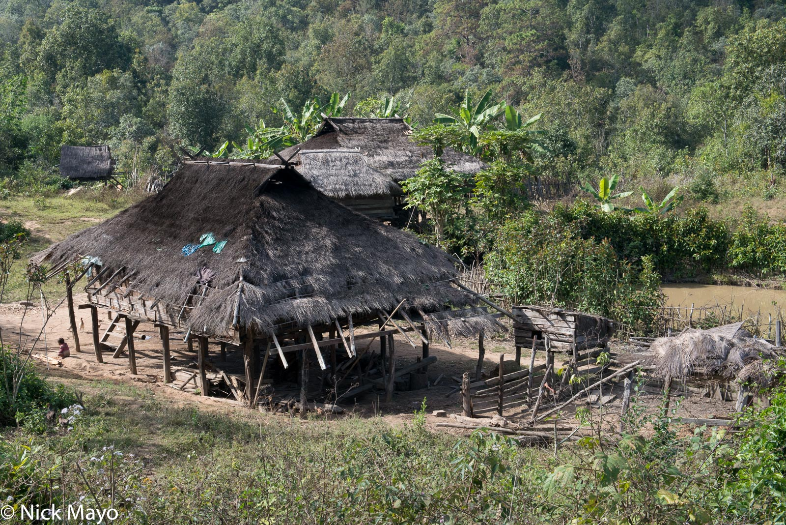 Burma, Shan State, Thatch, Village, photo