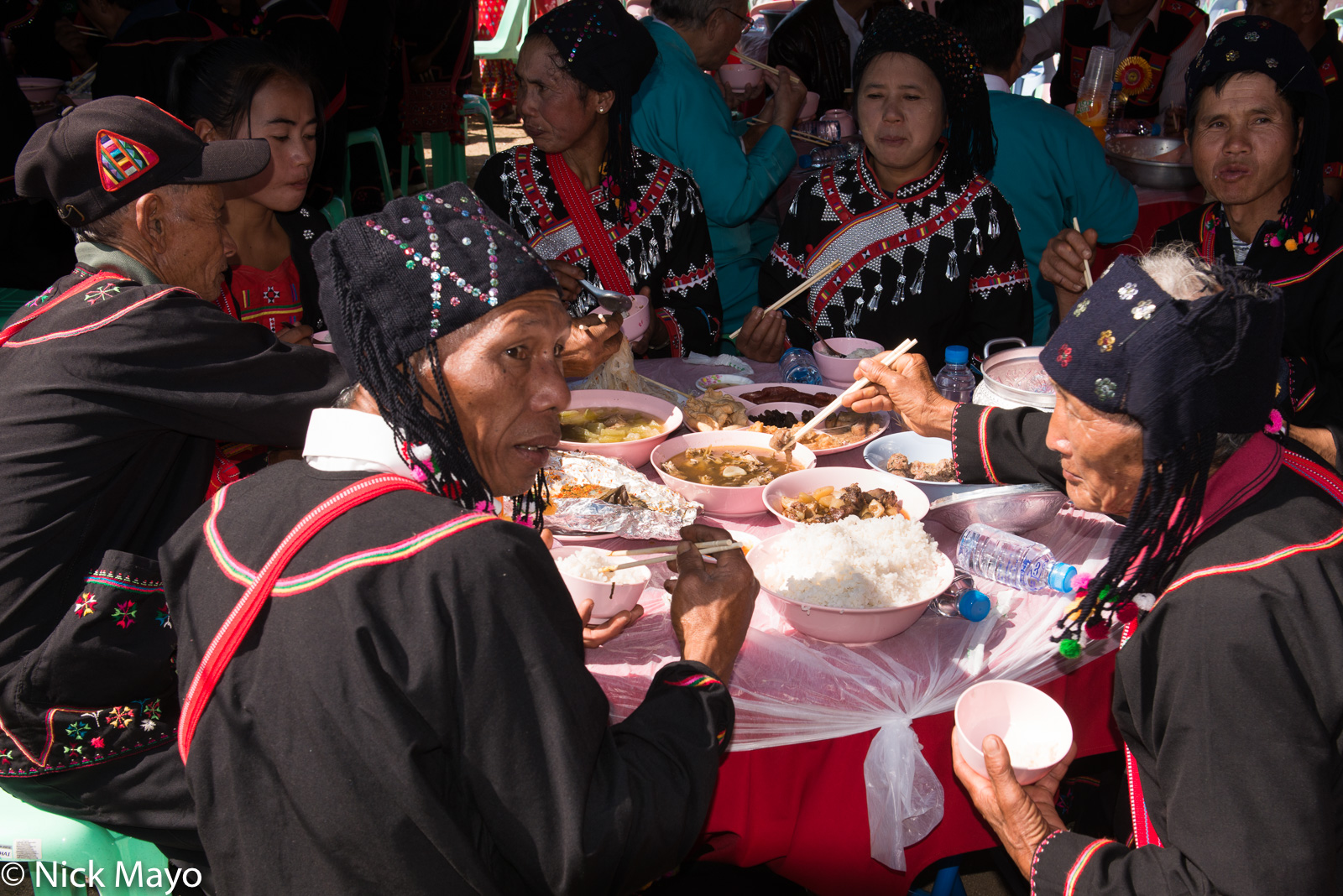 Lahu lunching at their New Year festival in Kengtung.