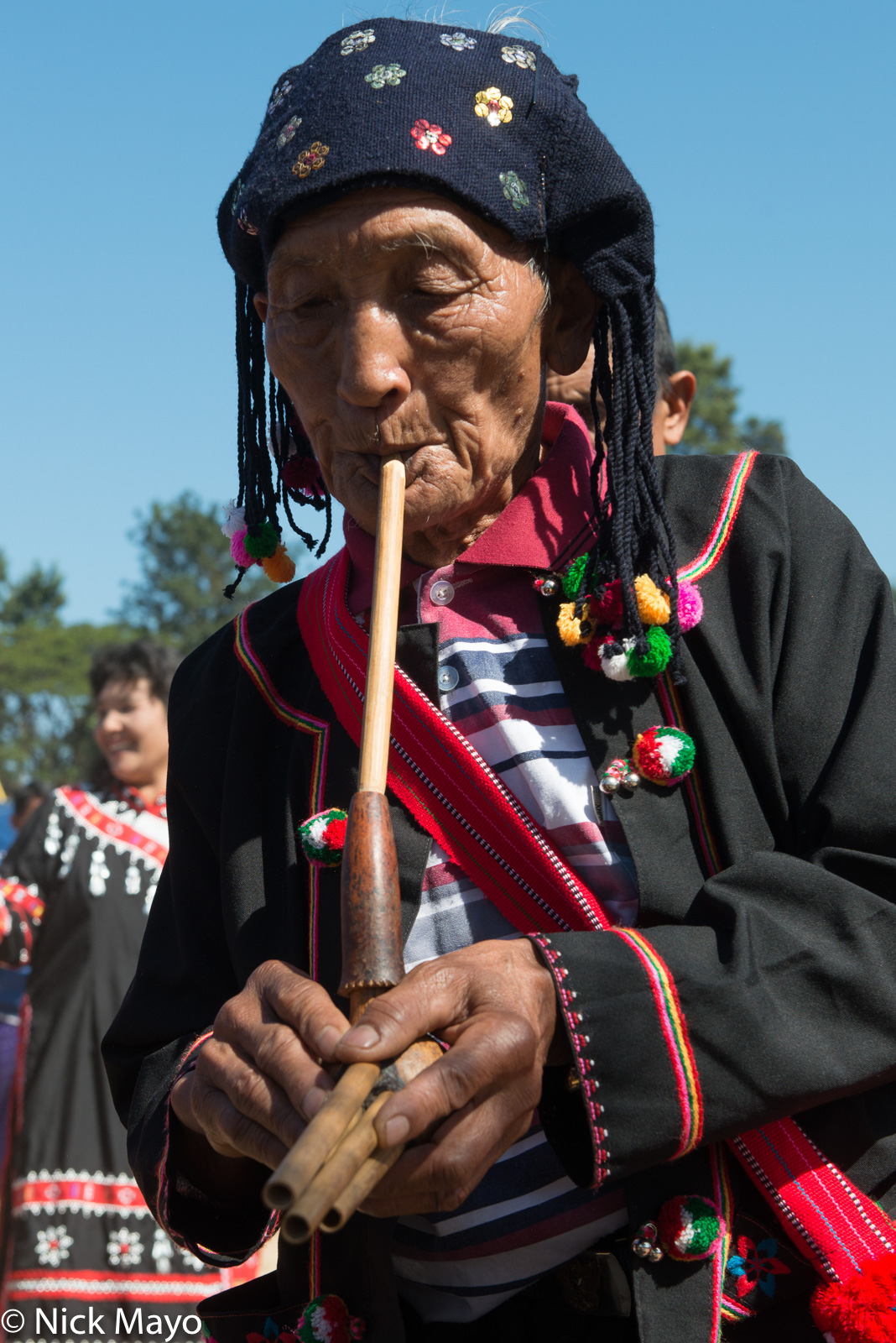 Burma, Festival, Lahu, Piping, Shan State, photo
