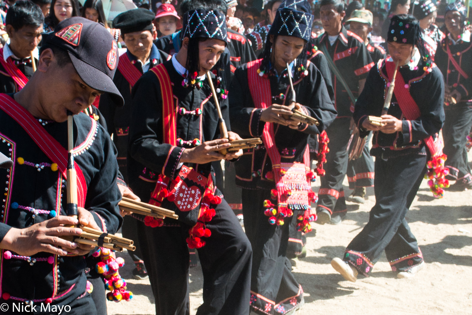 Burma, Dancing, Festival, Lahu, Piping, Shan State, photo