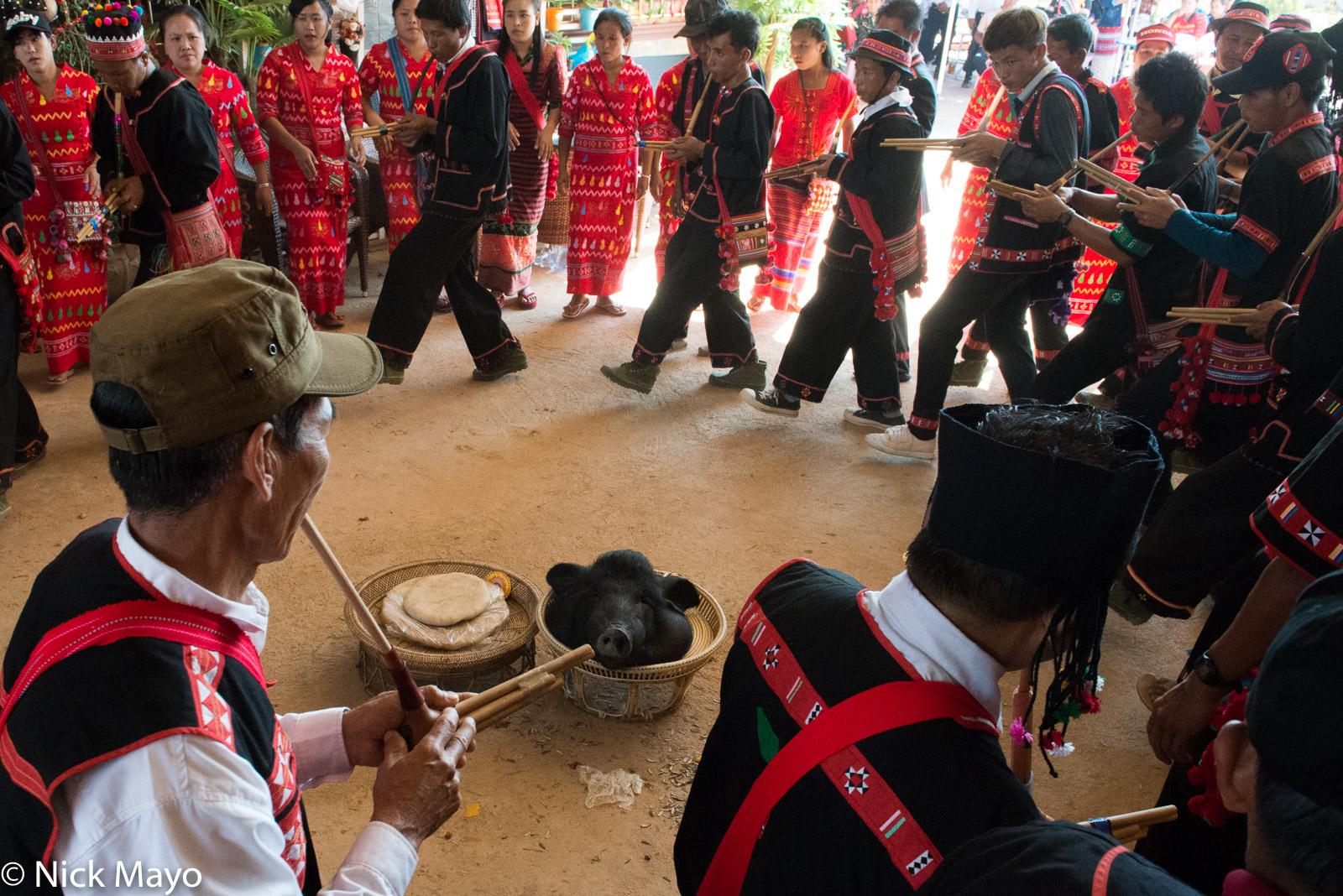 Burma, Circling, Festival, Lahu, Piping, Shan State, photo