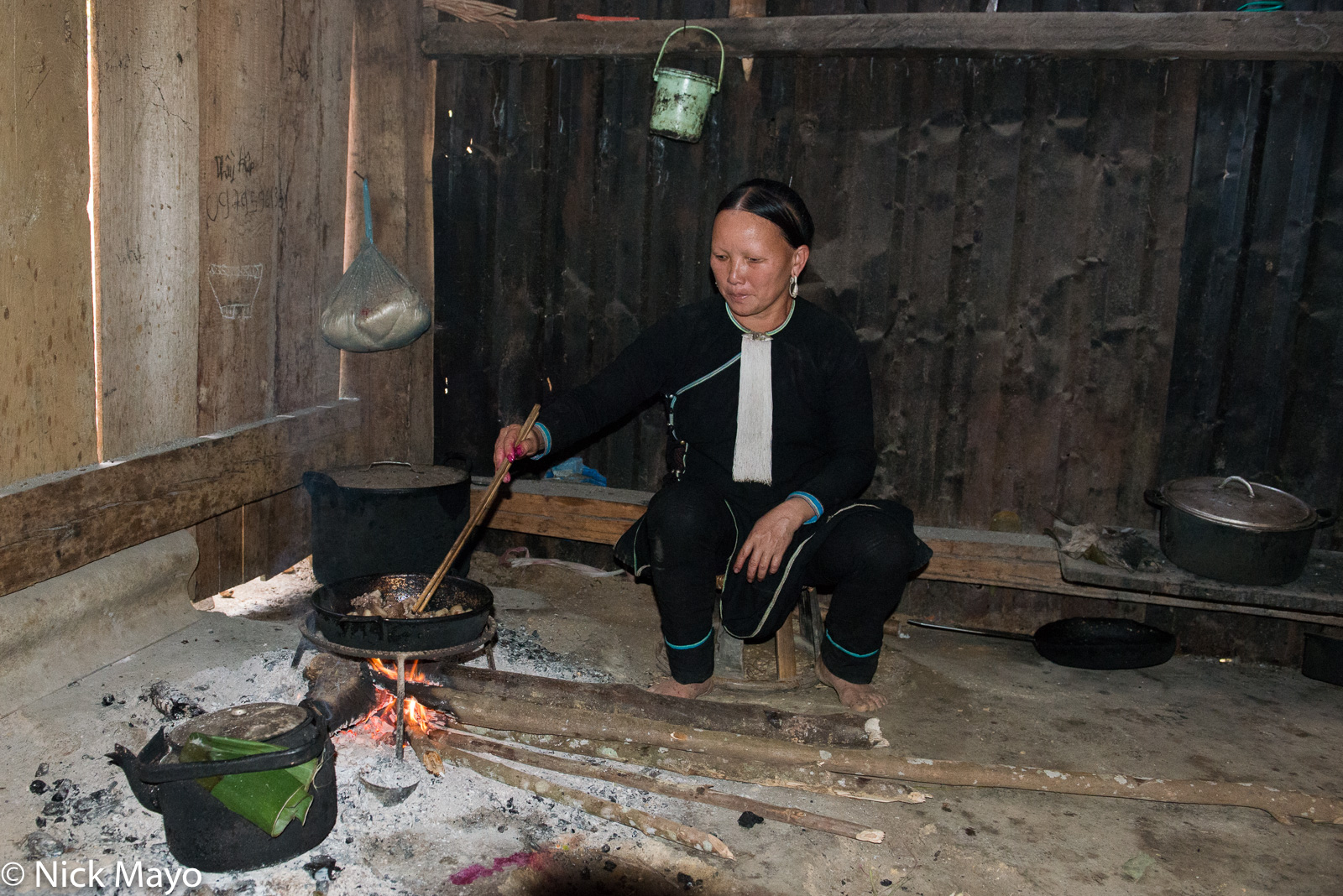 Cooking, Hearth, Lai Chau, Meat, Vietnam, Yao, photo