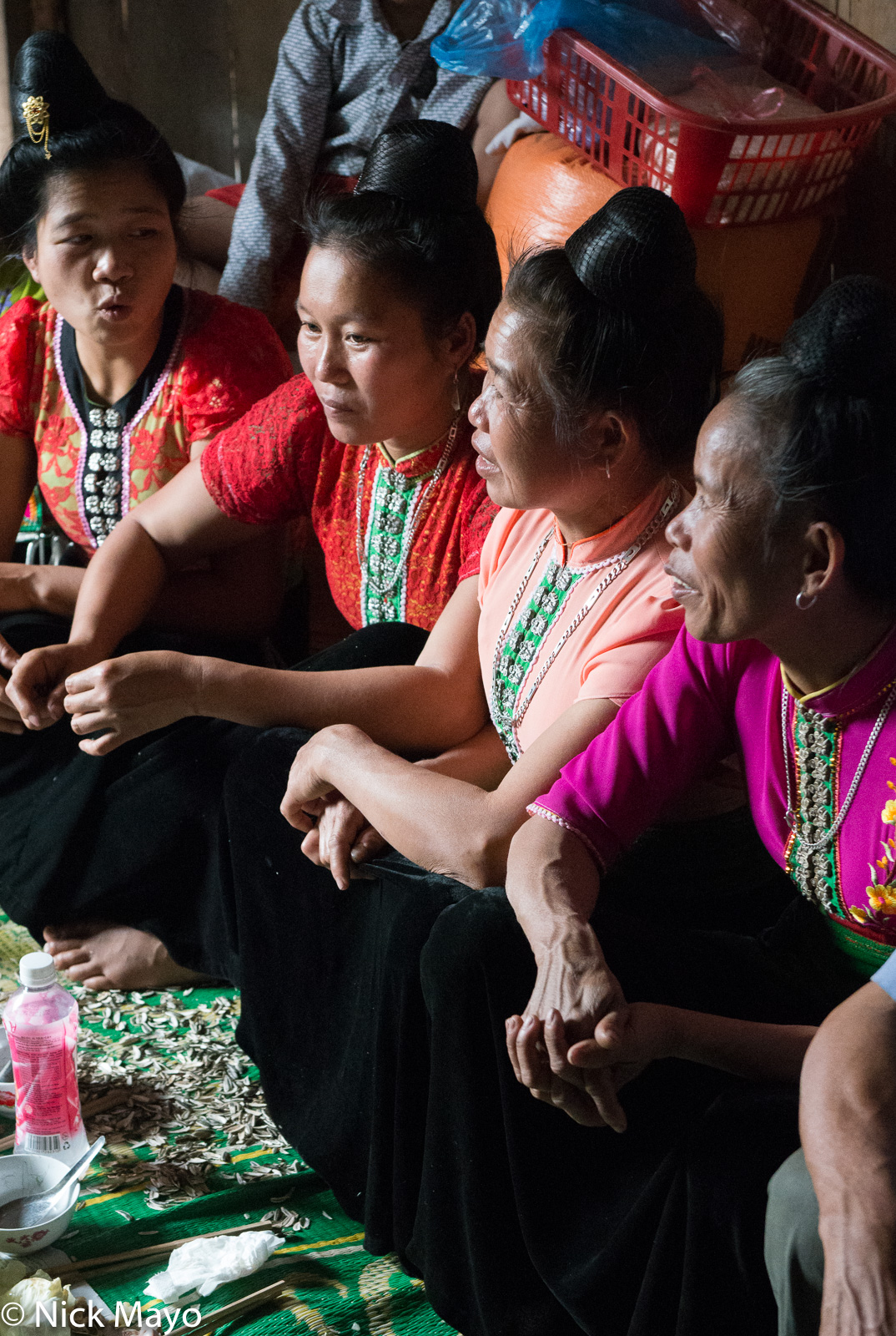 Thai (Dai) women at a New Year lunch in the Nam Ma valley.