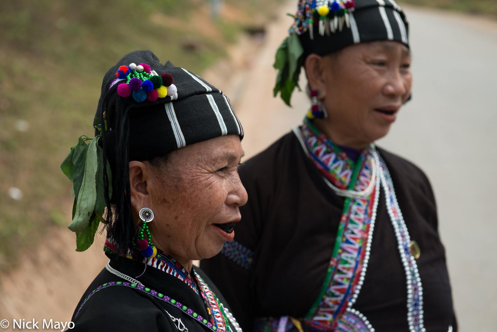 A Lu woman with blackened teeth in the Nam Ma valley.