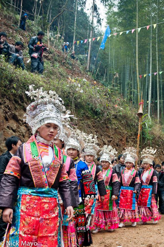 Breastpiece,China,Circling,Festival,Guizhou,Headdress,Miao, photo