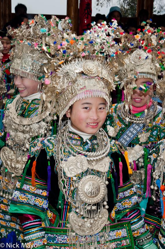 Apron,Breastpiece,China,Earring,Festival,Guizhou,Miao,Necklace, photo