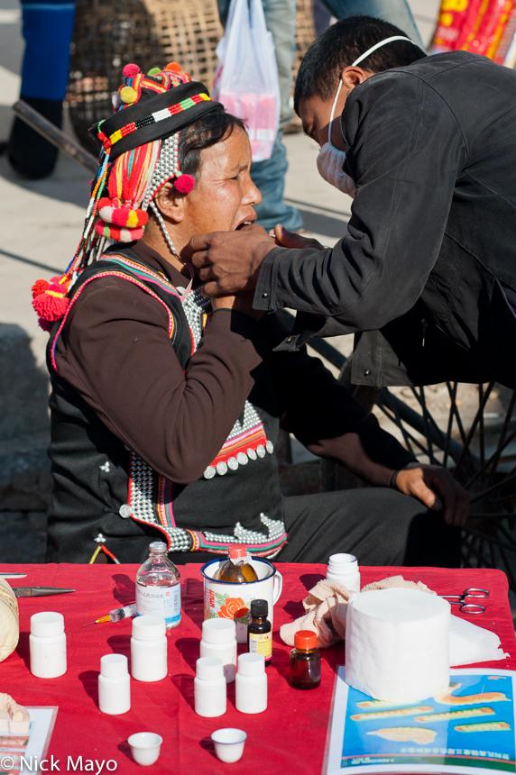 China,Dentistry,Hani,Hat,Market,Yunnan, photo