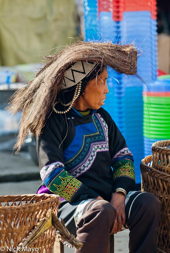 Basket,China,Hani,Hat,Market,Yunnan, photo