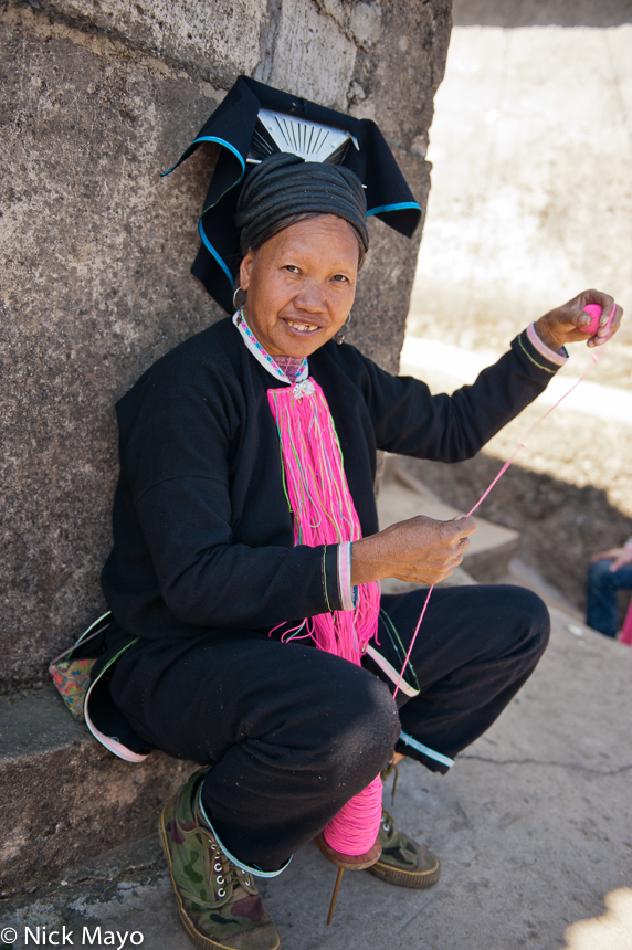China,Hat,Spinning,Yao,Yunnan, photo