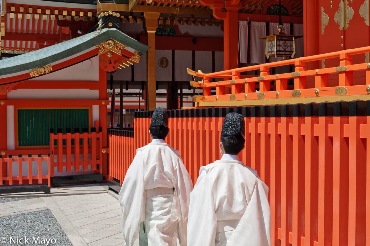 Japan,Kinki,Priest,Shrine, photo