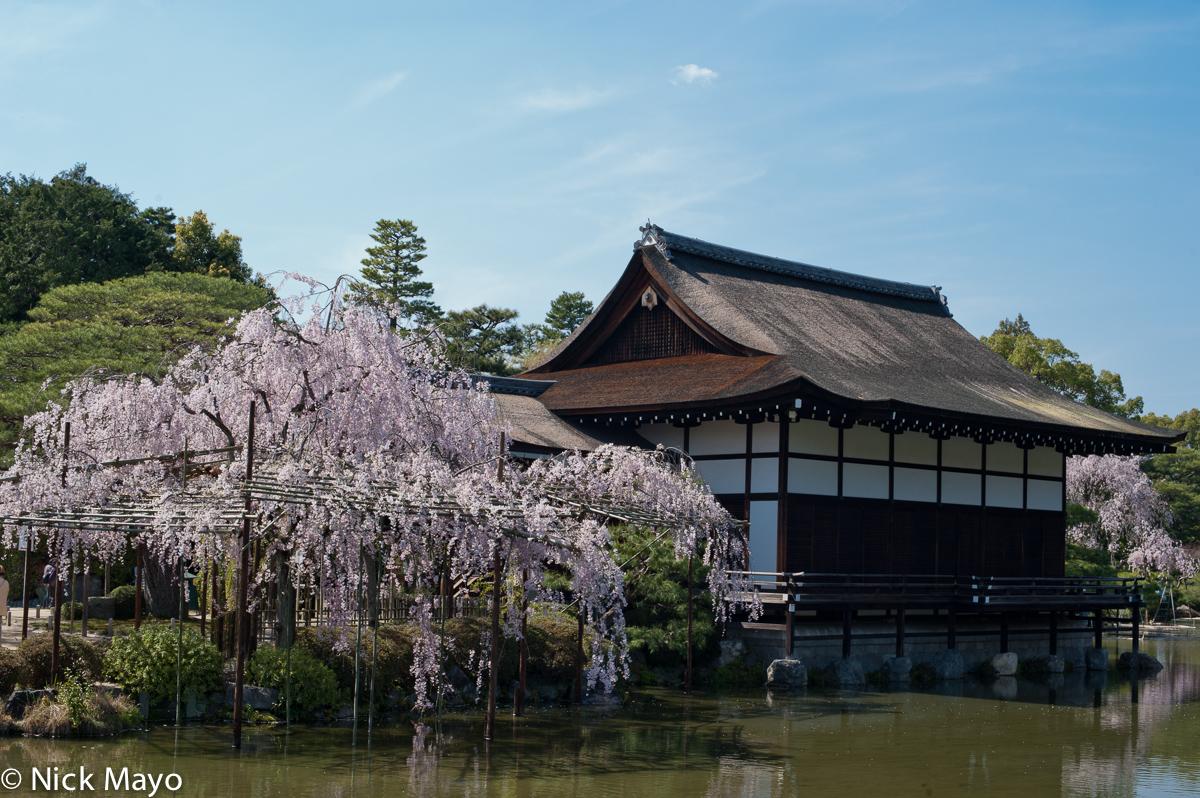 Garden,Japan,Kinki,Roof,Thatch, photo