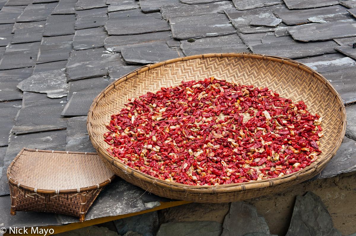 Chilli,China,Drying,Yunnan, photo