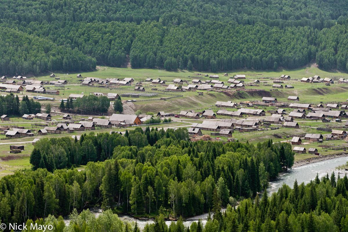 China,Village,Xinjiang, photo