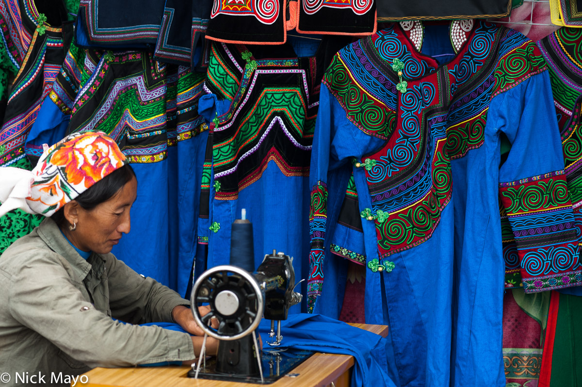 China,Market,Sewing,Sewing Machine,Sichuan,Stitching,Yi, photo
