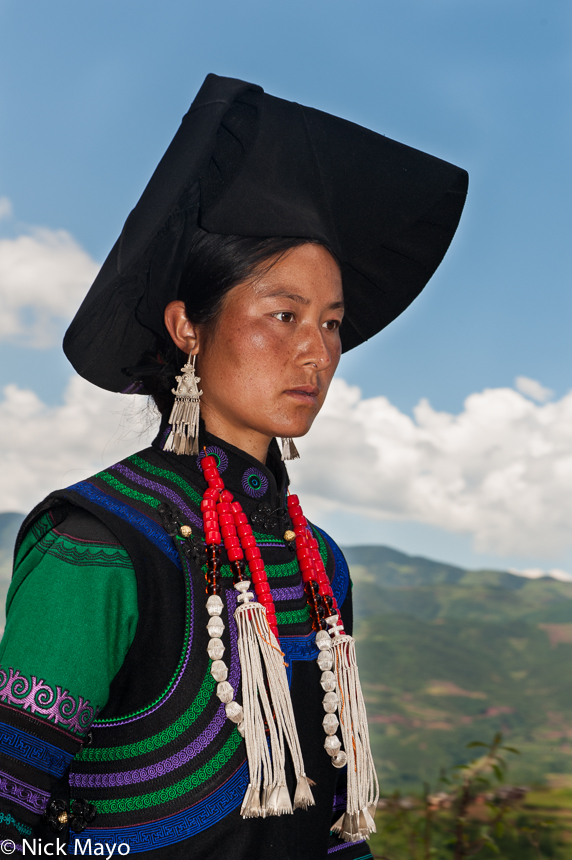 China,Earring,Funeral,Hat,Necklace,Sichuan,Yi, photo