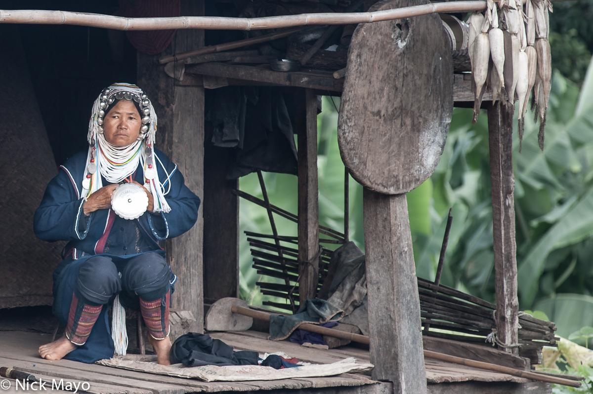 Breastpiece,Burma,Hani,Headdress,Leggings,Necklace,Shan State,Terrace, photo