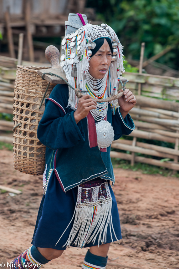 Backstrap Basket,Breastpiece,Burma,Hani,Headdress,Necklace,Shan State, photo