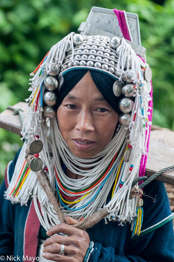 Burma,Hani,Headdress,Necklace,Shan State, photo
