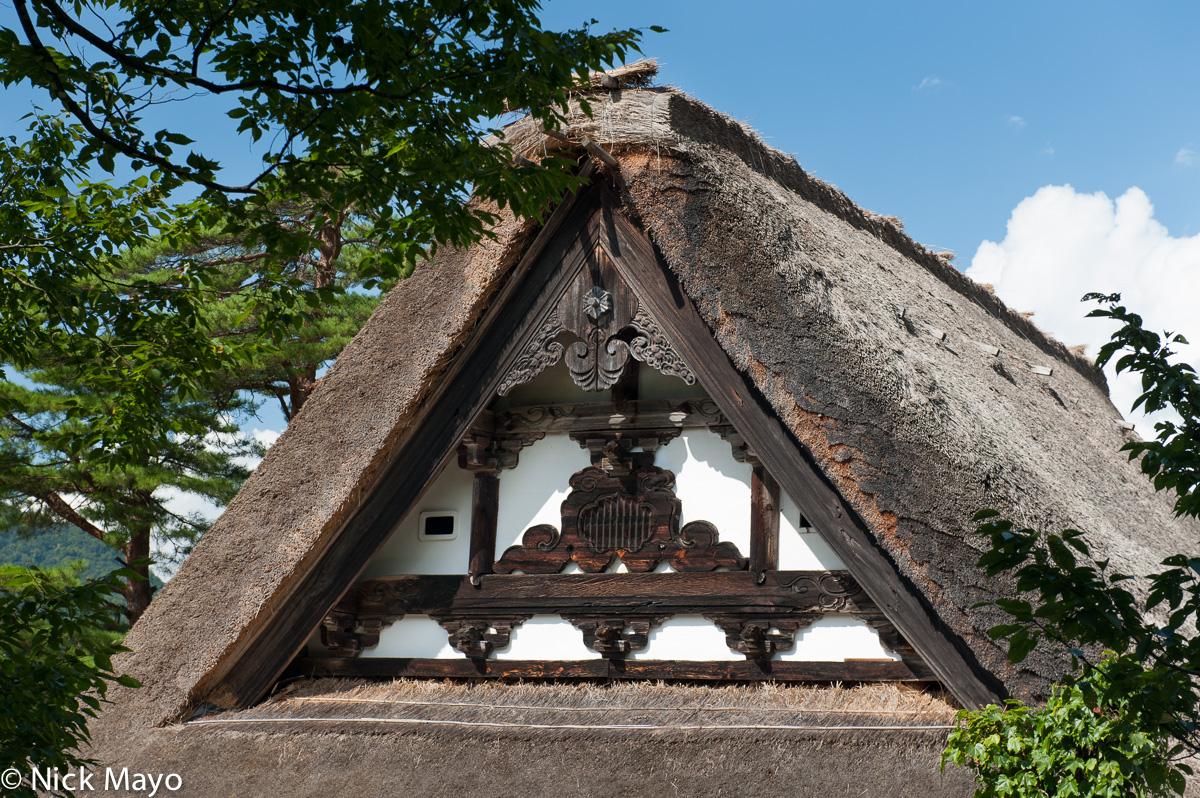 Chubu,Japan,Residence,Roof,Thatch, photo