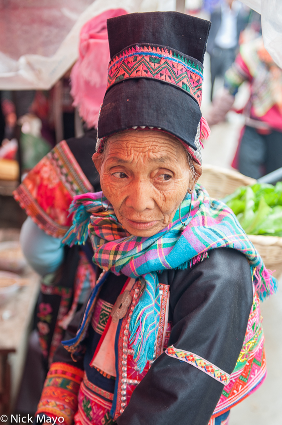 China,Dai,Earring,Hat,Market,Yunnan, photo