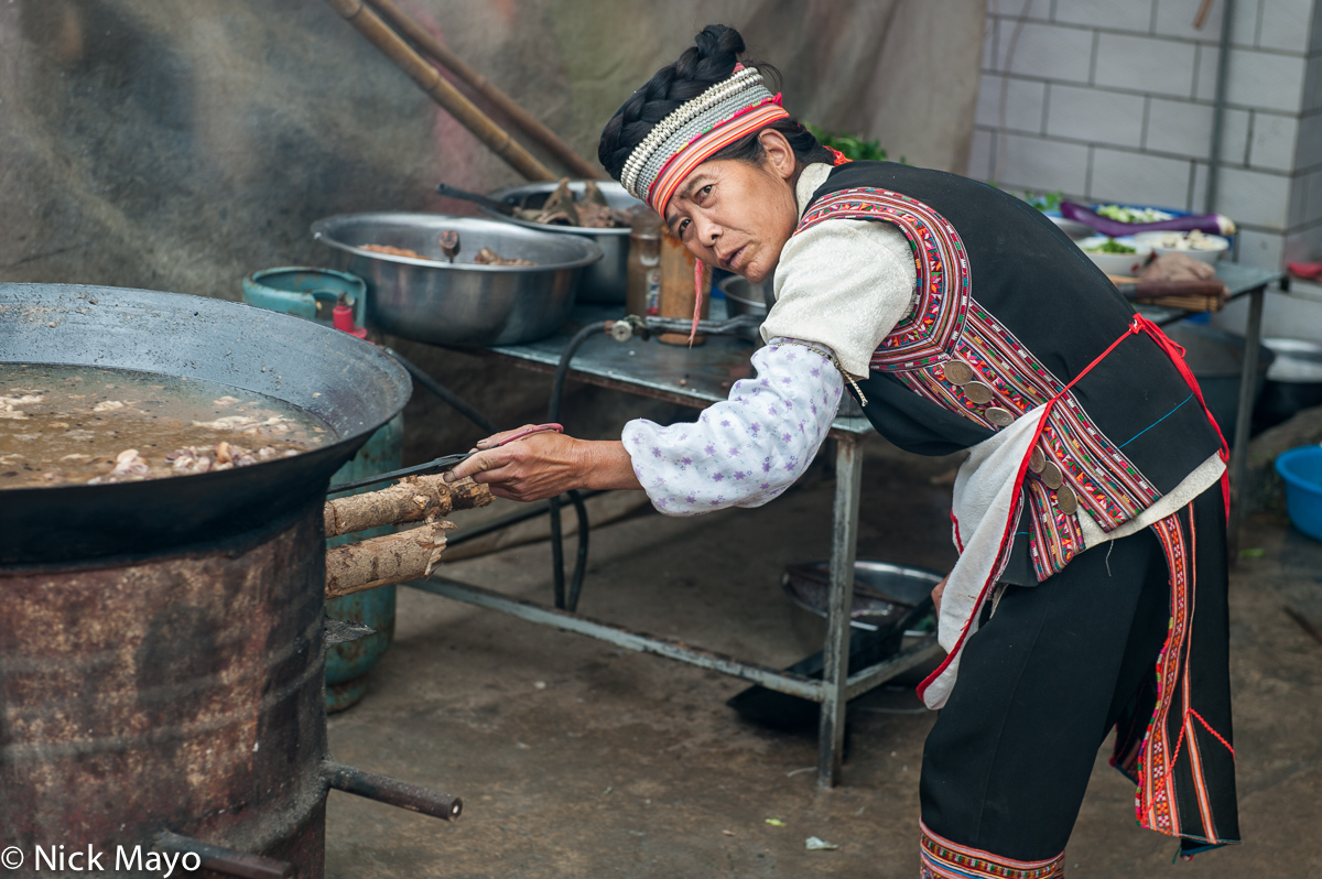 China,Cooking,Hani,Market,Wok,Yunnan, photo