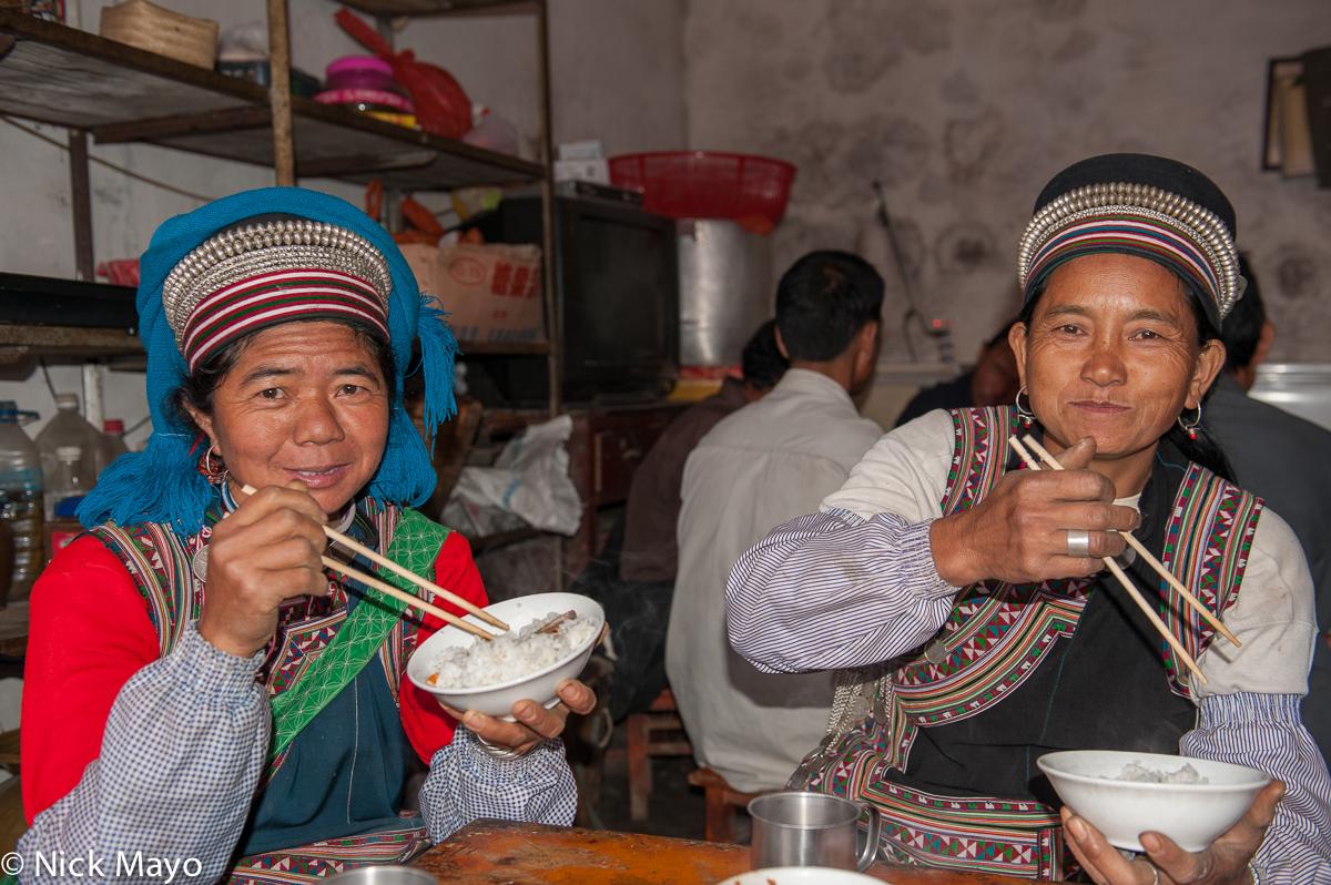 China,Earring,Eating,Hani,Hat,Restaurant,Rice,Yunnan, photo