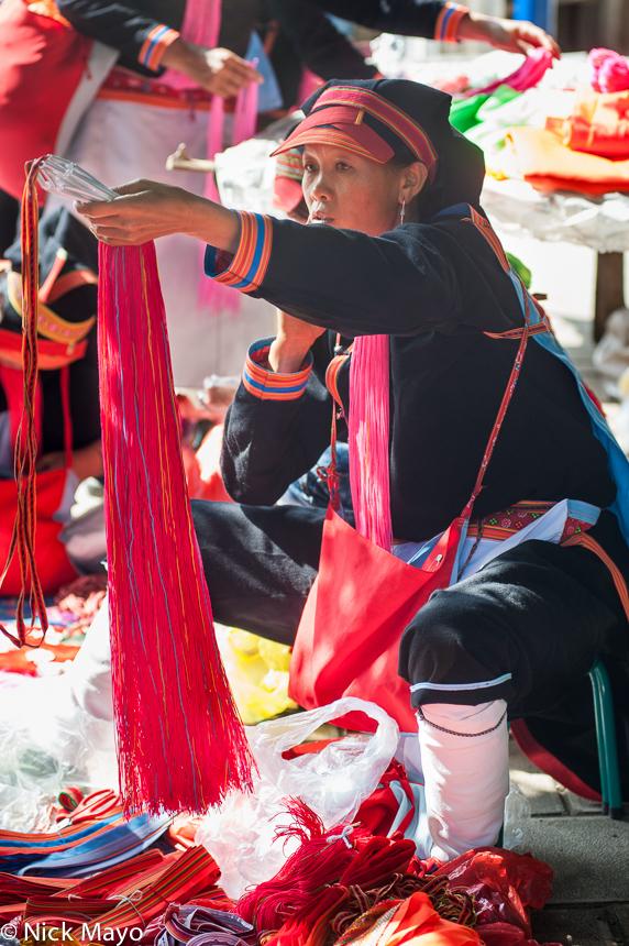Bag,China,Hat,Leggings,Market,Selling,Yao,Yunnan, photo