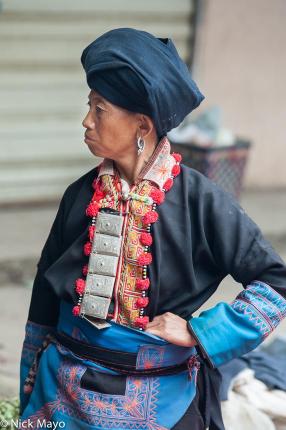 Breastpiece,China,Earring,Turban,Yao,Yunnan, photo