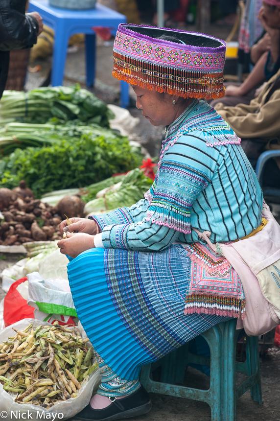 Bag,China,Hat,Market,Miao,Yunnan, photo