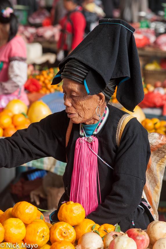 China,Earring,Hat,Market,Orange,Shopping,Yao,Yunnan, photo