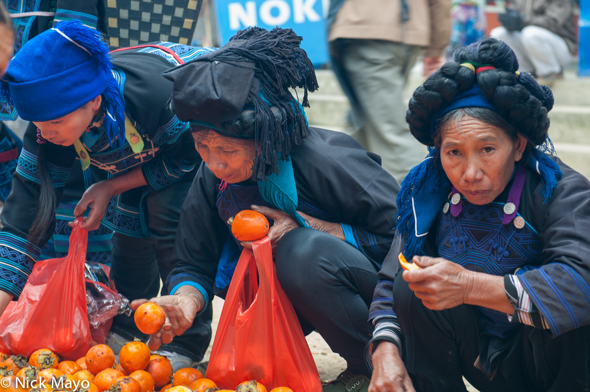 China,Hair Piece,Hani,Market,Orange,Shopping,Yunnan, photo