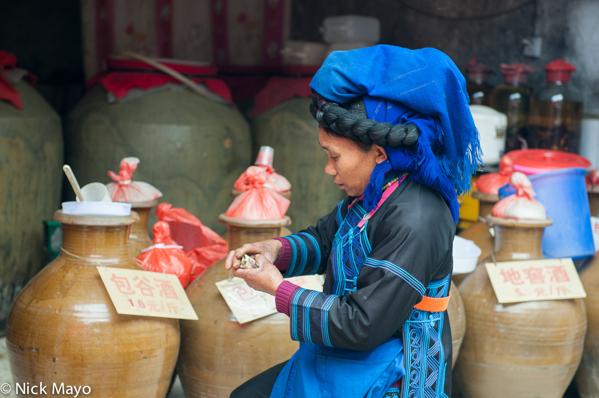 China,Hani,Market,Shopping,Wine Jar,Yunnan, photo