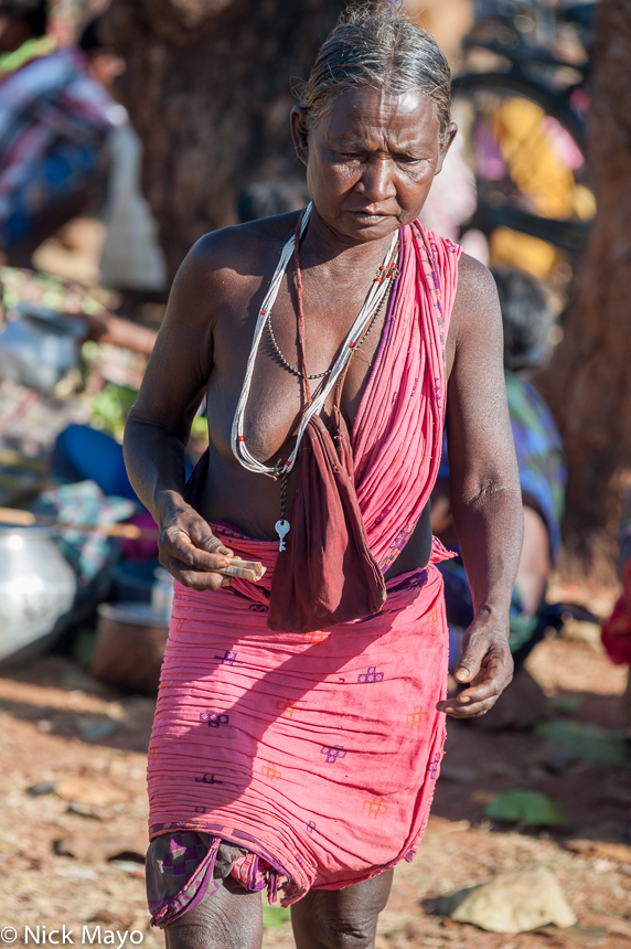 Chhattisgarh,Gond,India,Market,Necklace, photo