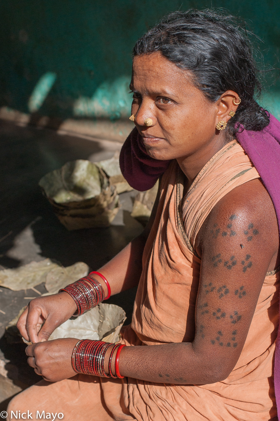 Bracelet,Earring,Gond,India,Nose Stud,Orissa,Tattoo, photo