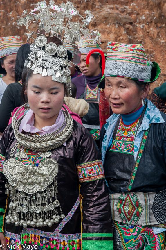 Breastpiece,China,Earring,Guizhou,Hat,Headdress,Miao,Necklace,Wedding, photo