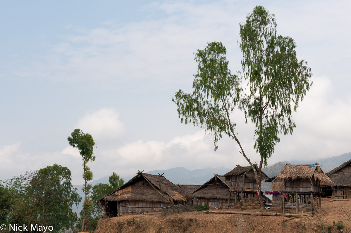 The thatched Akha Mouchi village of Ban Eperching.