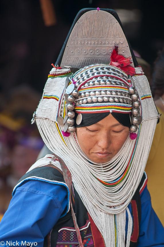 Burma,Hani,Headdress,Shan State, photo