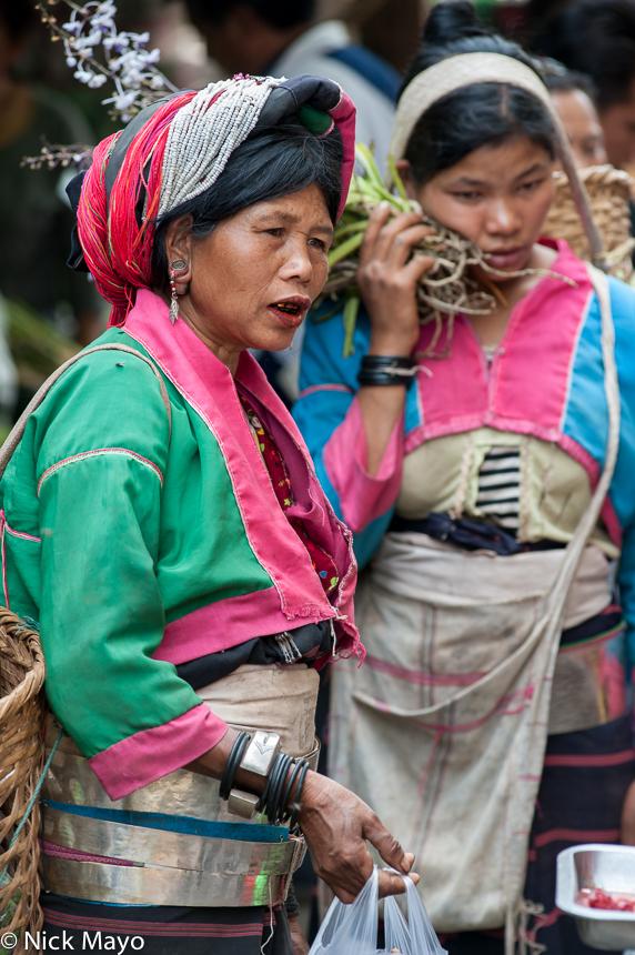Bracelet,Burma,Earring,Market,Palaung,Shan State,Turban,Waist Hoops, photo