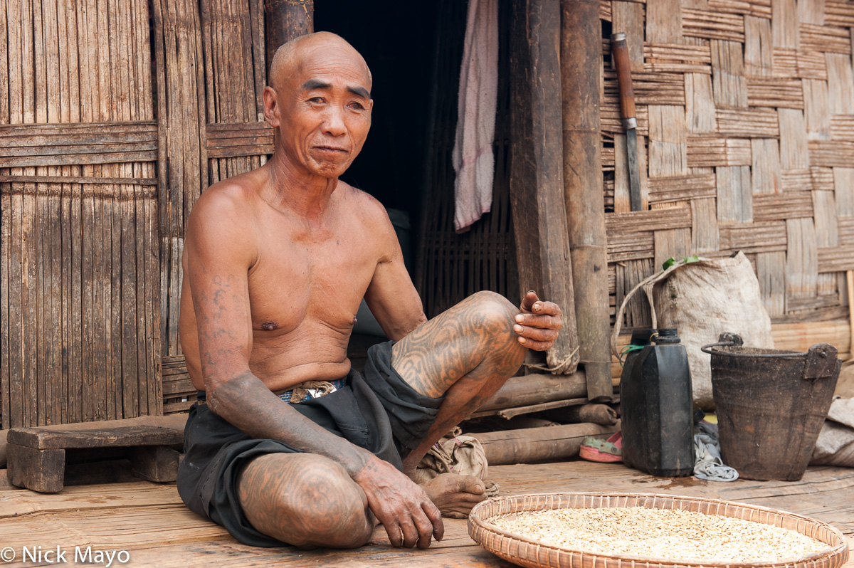 Burma,Palaung,Shan State,Tattoo, photo