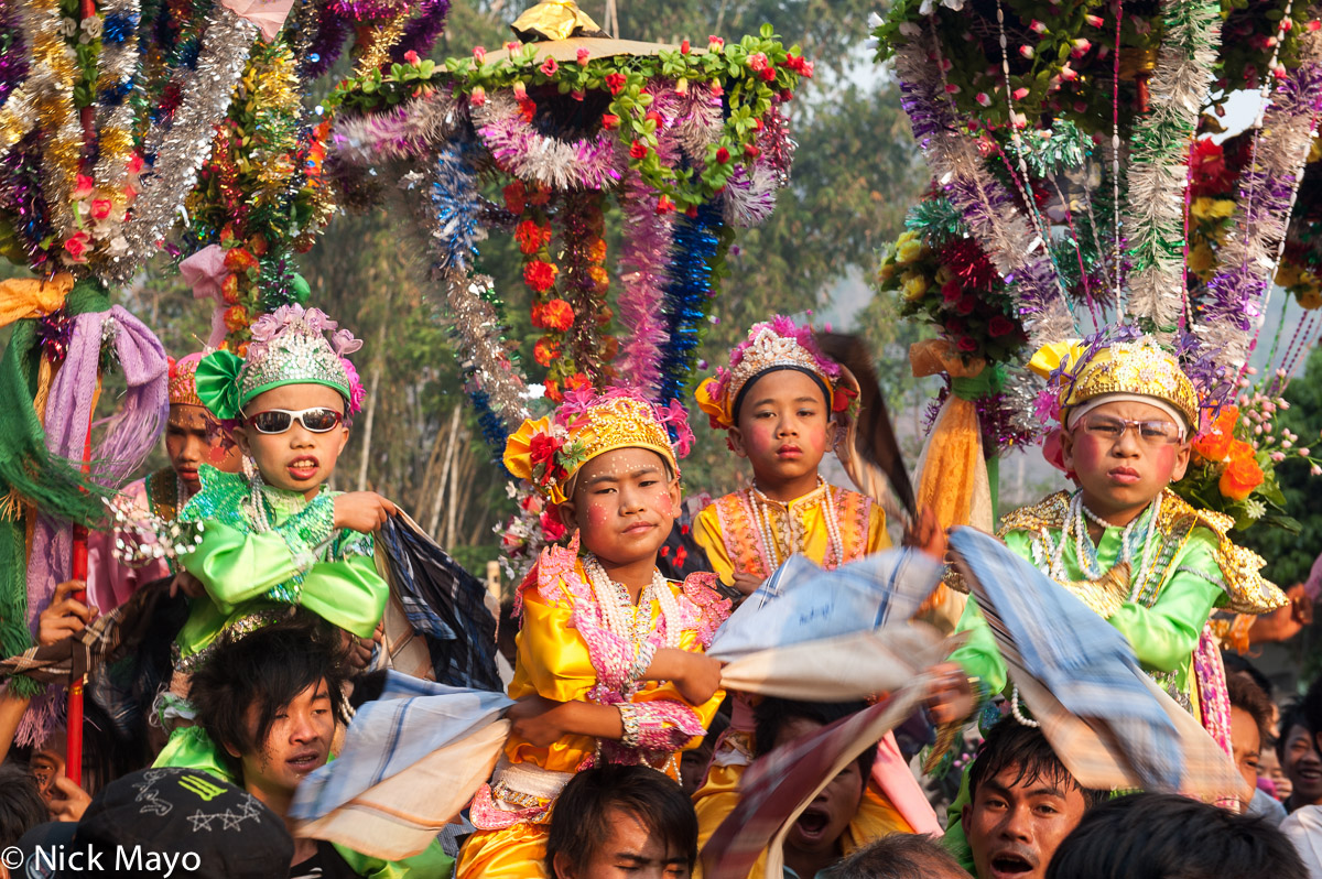 Burma,Palaung,Procession,Shan State,Shinbyu, photo