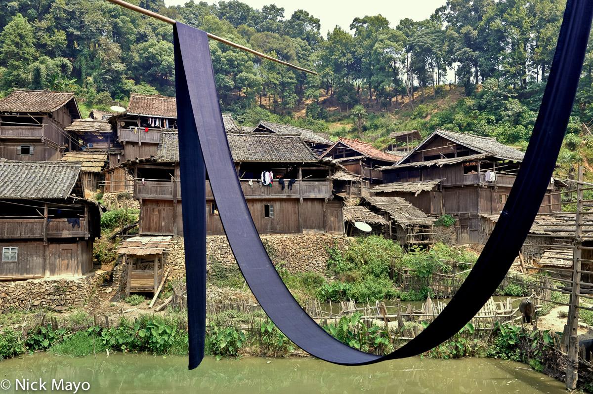 China,Cloth Drying,Guizhou,Village, photo