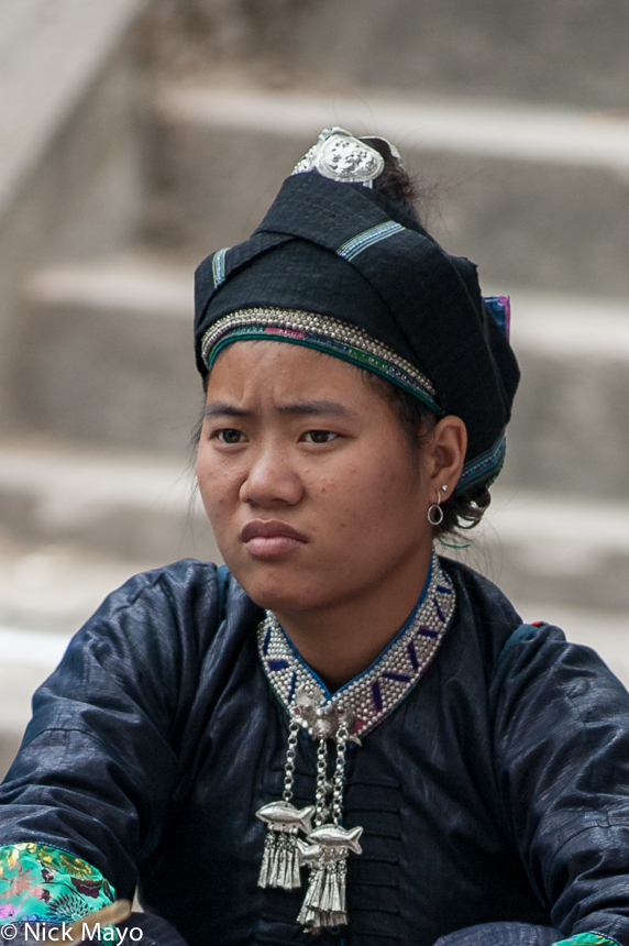 Ha Giang,Head Scarf,Necklace,Nung,Vietnam, photo