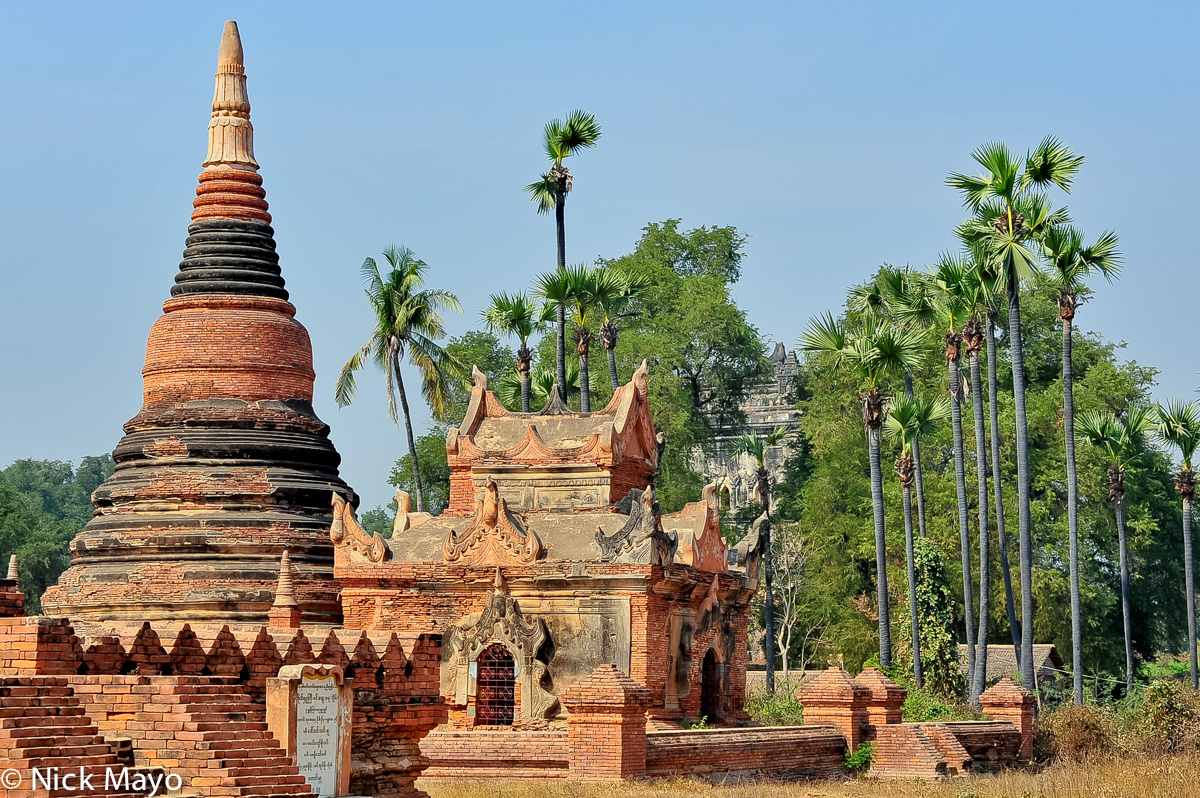 A brick stupa in the old Burmese capital of Inwa.