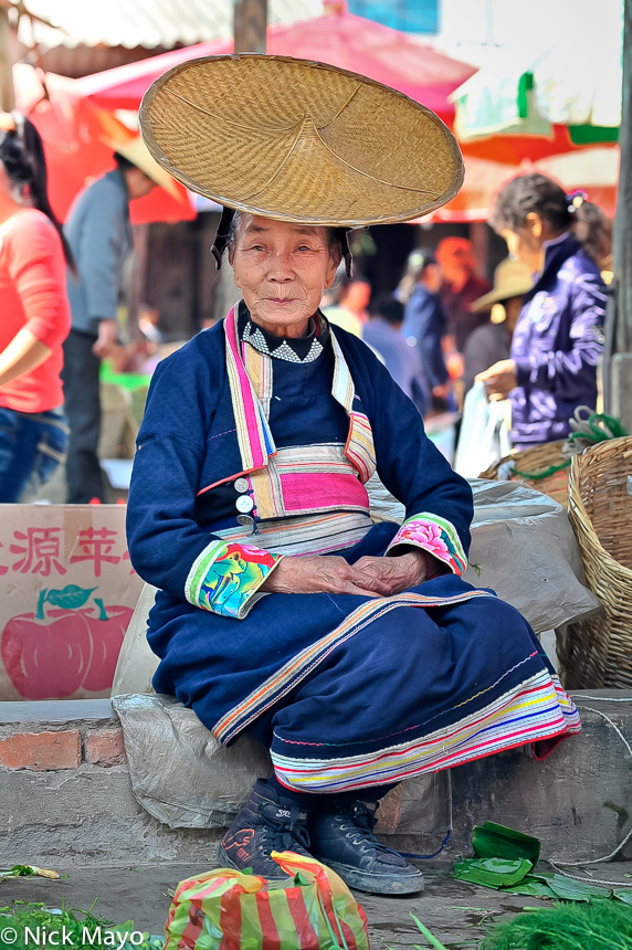China,Dai,Hat,Market,Selling,Yunnan, photo